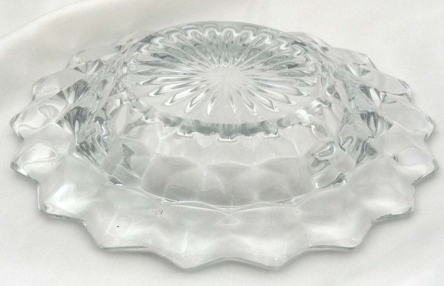 Fostoria AMERICAN Round Dome Covered Butter Dish