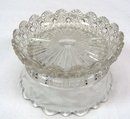 EAPG Berry Bowl STARRED BLOCK w/ Etching c. 1896