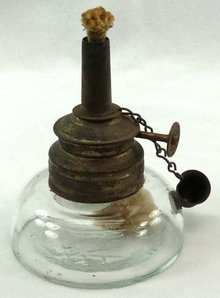 Vintage ARROW No 1 Miniature Glass Oil Kerosene Lamp