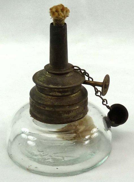Vintage ARROW No 1 Miniature Glass Oil Kerosene Lamp