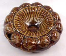 BENNINGTON ROCKINGHAM Tortoise Shell Spittoon Cuspidor
