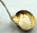 Whiting Sterling Silver IMPERIAL QUEEN Ladle Gold Wash