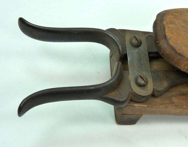 Antique Mechanical Wood & Cast Iron BOOT JACK Pat. 1859