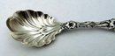 WHITING Sterling Silver LILY Sugar Shell Spoon