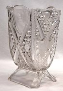 EAPG ASHMAN CROSSROADS ETCHED FERN Water Pitcher c 1886