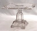 EAPG ASHMAN CROSSROADS ETCHED FERN Cake Stand c. 1886