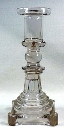 BOSTON & SANDWICH Flint Glass Blown Socket Candlestick