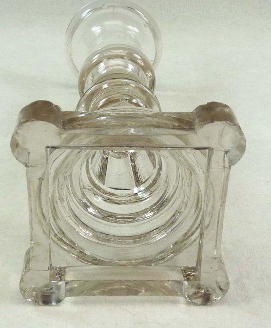 BOSTON & SANDWICH Flint Glass Blown Socket Candlestick