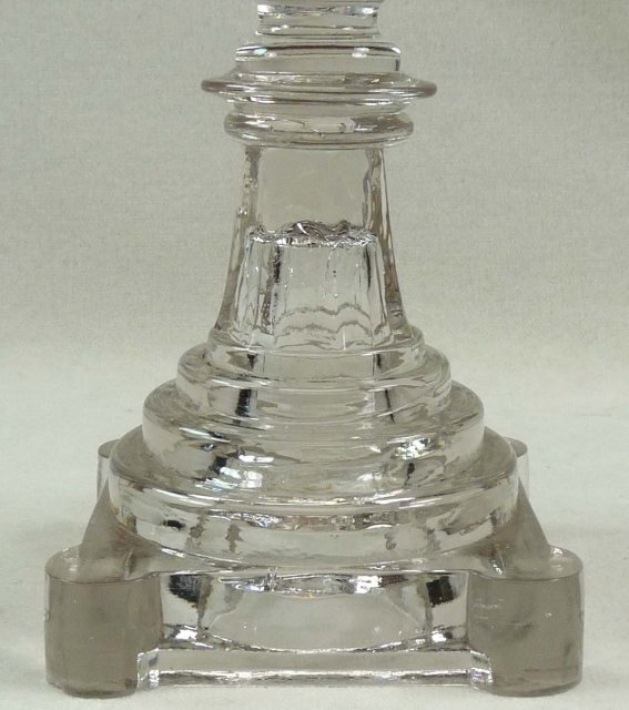 BOSTON & SANDWICH Flint Glass Candlestick Blown Socket