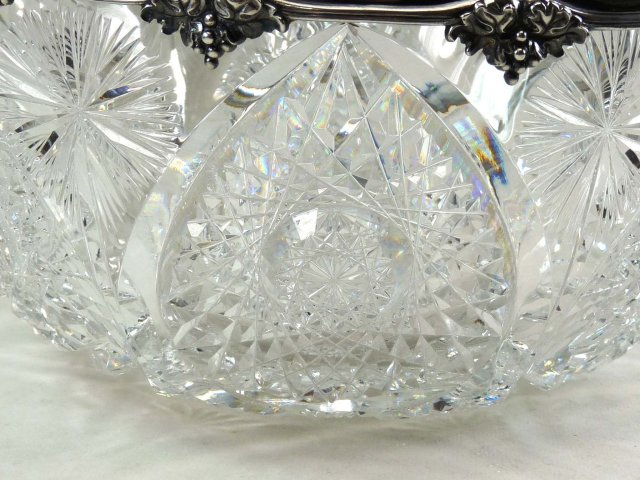 1905 American Brilliant Cut Glass GORHAM Sterling Bowl