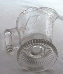 EAPG GOOD LUCK Horseshoe Pattern Glass Creamer