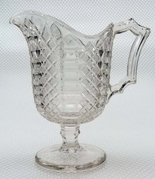 EAPG JACOB'S LADDER / MALTESE Footed Creamer