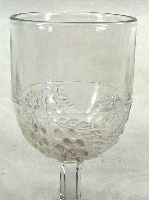 4 EAPG Boston & Sandwich BARBERRY Goblet