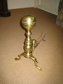 CANNONBALL BRASS  ANDIRONS