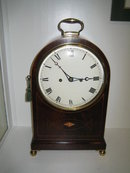 ENGLISH MAHOGANY TWIN FUSEE BRACKET CLOCK