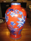 KAOLINWARE ENGLISH  19TH CENT.LARGE VASE