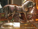 ENGLISH BRASS HORSE DOORSTOP