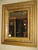 VICTORIAN GILT FRAMED BEVELLED  MIRROR
