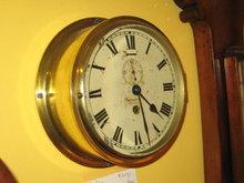 BRASS SHIP BULKHEAD CLOCK