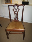 HANDSOME PAIR OF ENGLISH CHIPPENDALE STYLE DINING CHAIRS