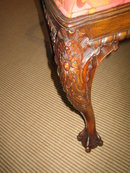 CARVED CHIPPENDALE DINING/SIDE CHAIR