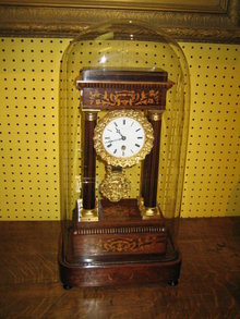 FRENCH PORTICO 7 DAY MANTLE CLOCK