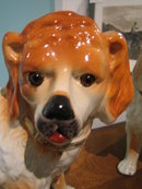 STAFFORDSHIRE ST BERNARD DOGS - PAIR