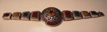 Victorian Sterling Agate Bracelet