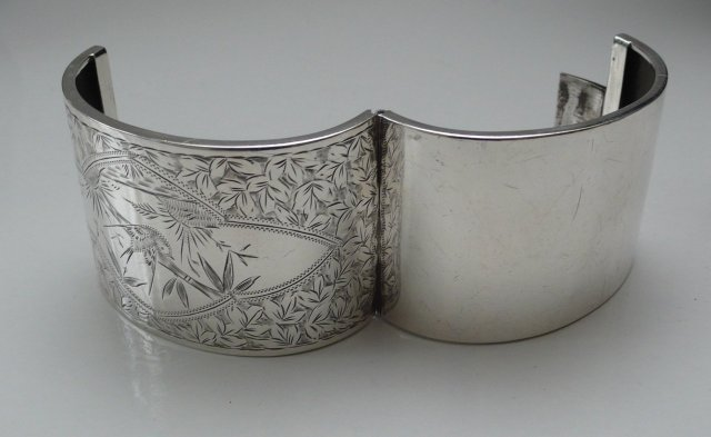 Victorian Sterling Wide Cuff Bracelet