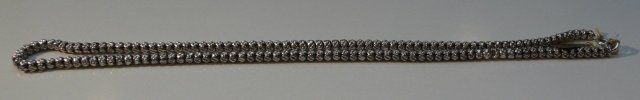 Victorian Sterling Silver Bead  Necklace