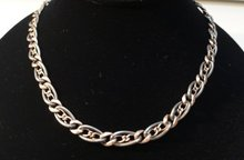 Victorian Sterling Silver Niello  Necklace
