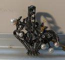 Victorian Silver Flower Basket Brooch