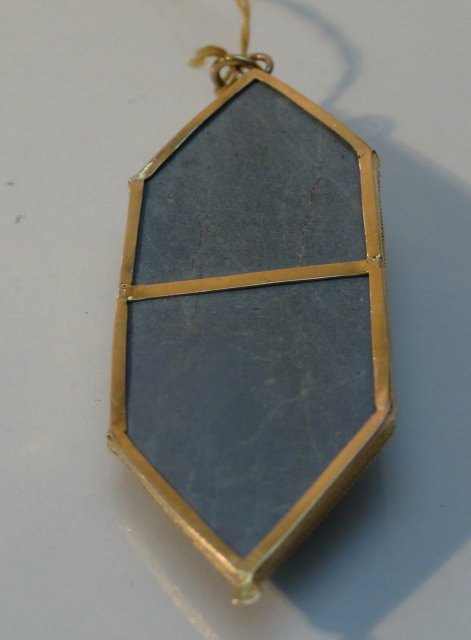Victorian Lava & Gold Cameo Pendent