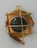 Victorian Etruscan Revival 15 Kt. Gold Brooch