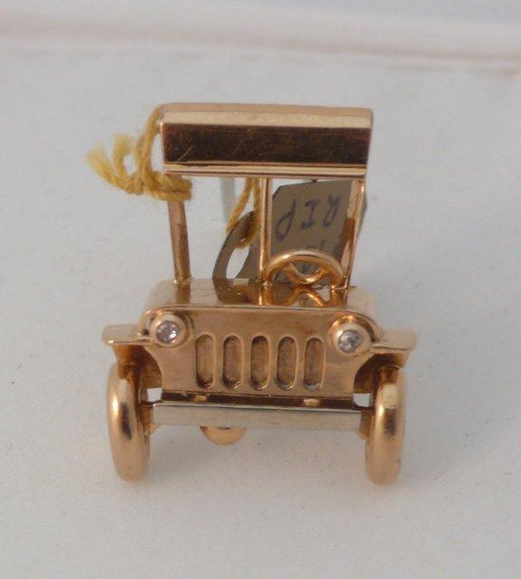 18 Kt Gold Model T Car Brooch