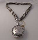 Victorian Sterling Collar with Engraved Locket