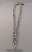 Victorian Sterling Prince Albert Chain