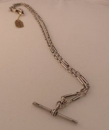 Victorian Silver Prince Albert Chain