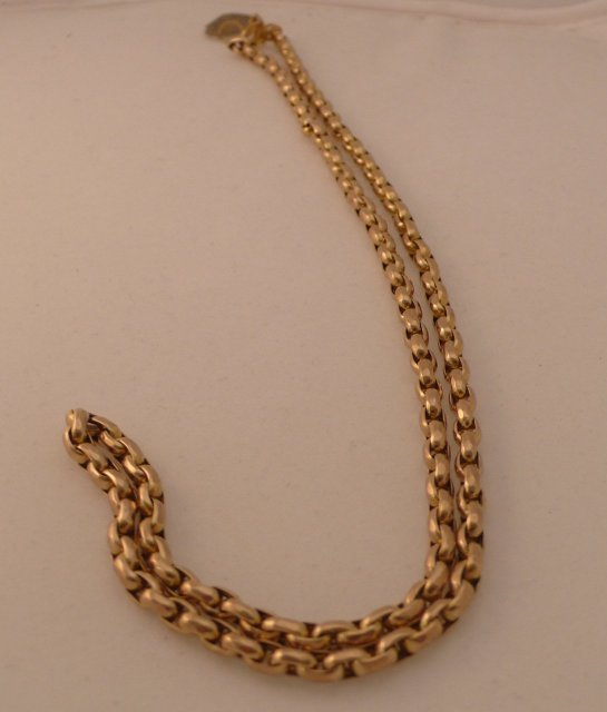 Victorian 9ct. gold necklace