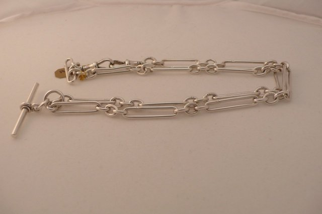 Victorian Sterling Silver Double Prince Albert Chain
