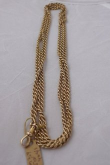15 Ct. Victorian long gold rope chain