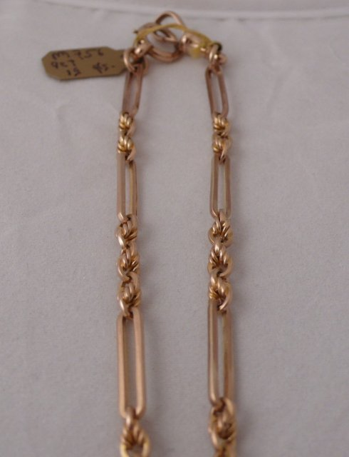 Victorian 9 CT. Rose Gold Prince Albert Chain