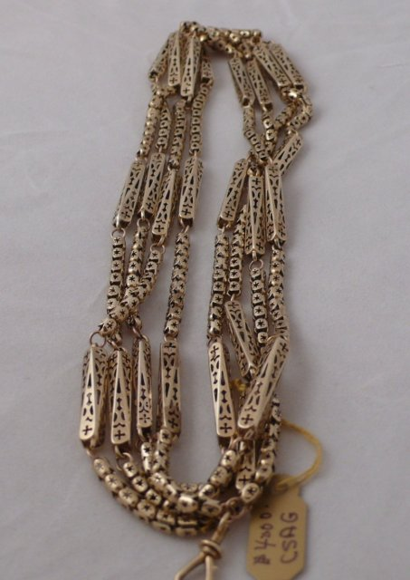 Victorian 9 ct. Gold long guard Chain