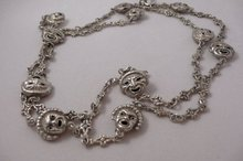 Victorian Sterling Comedy & Drama Necklace