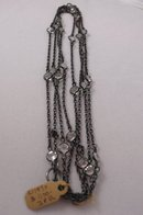 Victorian gun metal chain with crystals