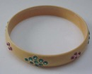 Celluloid Vintage Bangle with rhinestones