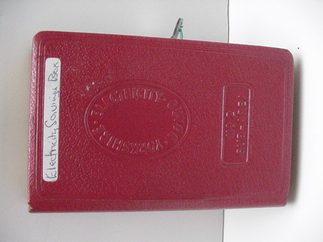 English Electricity Savings Bank Book / Key
