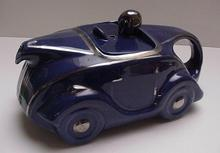 Sadler English Royal Blue Racing Car Teapot