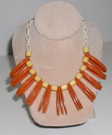 Bakelite and Celluloid Vintage Deco Necklace