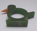 Bakelite vintage bird napkin ring